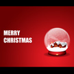 Christmas Snow Globe Greeting Card 1014