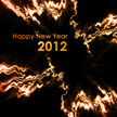 New Year 2012 Goldenrod Red Abstract Wallpaper 1026